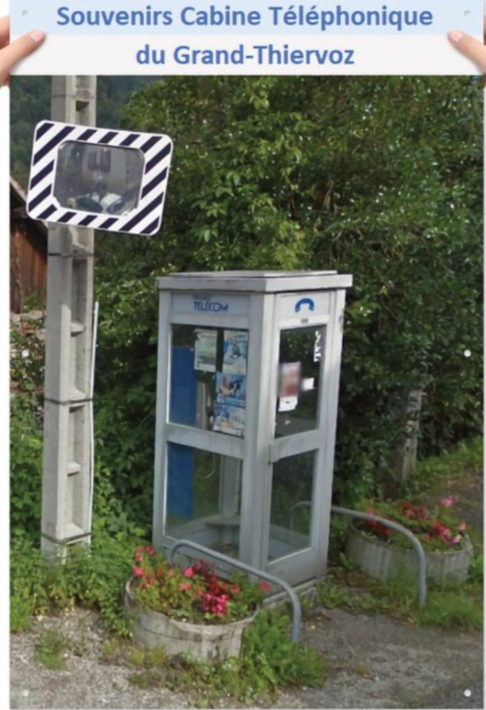 ancienne cabine téléphonique Grand Thiervoz